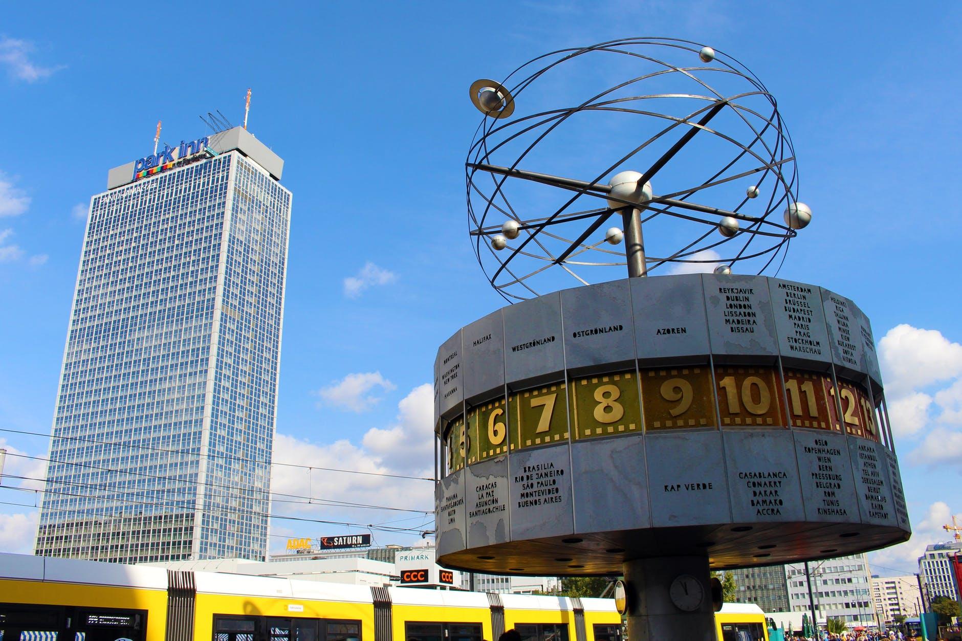 alexanderplatz architecture berlin blue